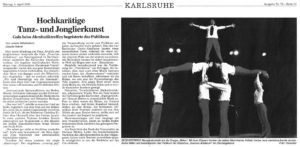 Pressebericht zur Galashow des Akrobatikfestivals 2005