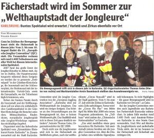 """Pressebericht """"Jahr der Bewegungskünste"""" 2007 (Wochenblatt)"""