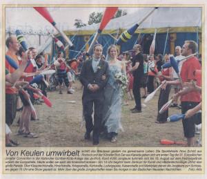 Pressebericht Jongleurshochzeit Europäische Jonglier Convention 2008 (Der Sonntag)