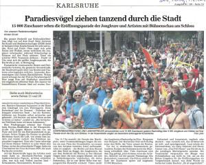 Pressebericht Parade Europäische Jonglier Convention 2008 (BNN)