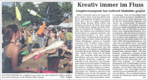 Pressebericht Abschluss Europäische Jonglier Convention 2008 (Stadtzeitung)