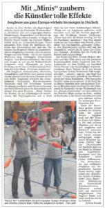 Pressebericht Jonglierfestival 2011 (BNN)
