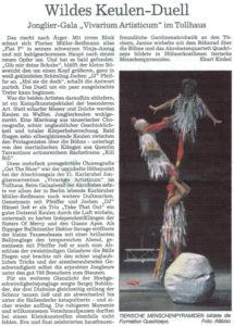 Pressebericht zur Galashow des Jonglierfestivals 2011 (BNN)
