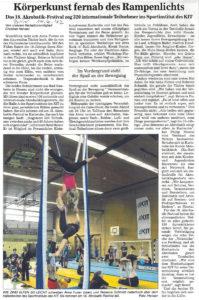 Pressebericht Akrobatikfestival 2012 (BNN)