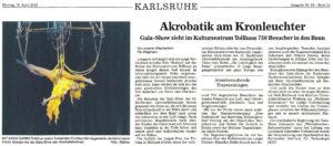 Pressebericht zur Galashow des Akrobatikfestivals 2012