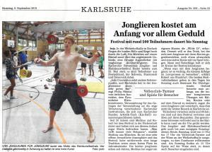 Pressebericht Jonglierfestival 2012 (BNN)