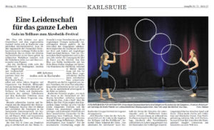 Pressebericht zur Galashow des Akrobatikfestivals 2014 (BNN)