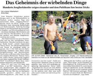 Pressebericht Jonglierfestival 2015 (BNN)