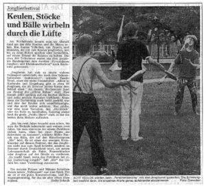 Pressebericht Jonglierfestival 1991 (BNN)