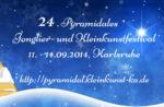 Flyer des 24. Pyramidales Jonglier- und Kleinkunstfestivals (Vorderseite)