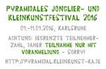 Flyer des 26. Pyramidales Jonglier- und Kleinkunstfestivals (Vorderseite)